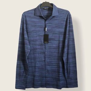 BUGATCHI / MIDNIGHT LONG SLEEVES POLO